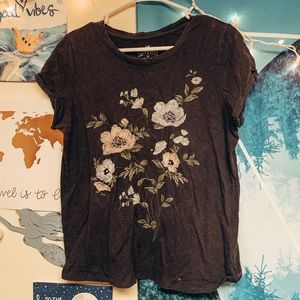 AEO Embroidered Flower Top